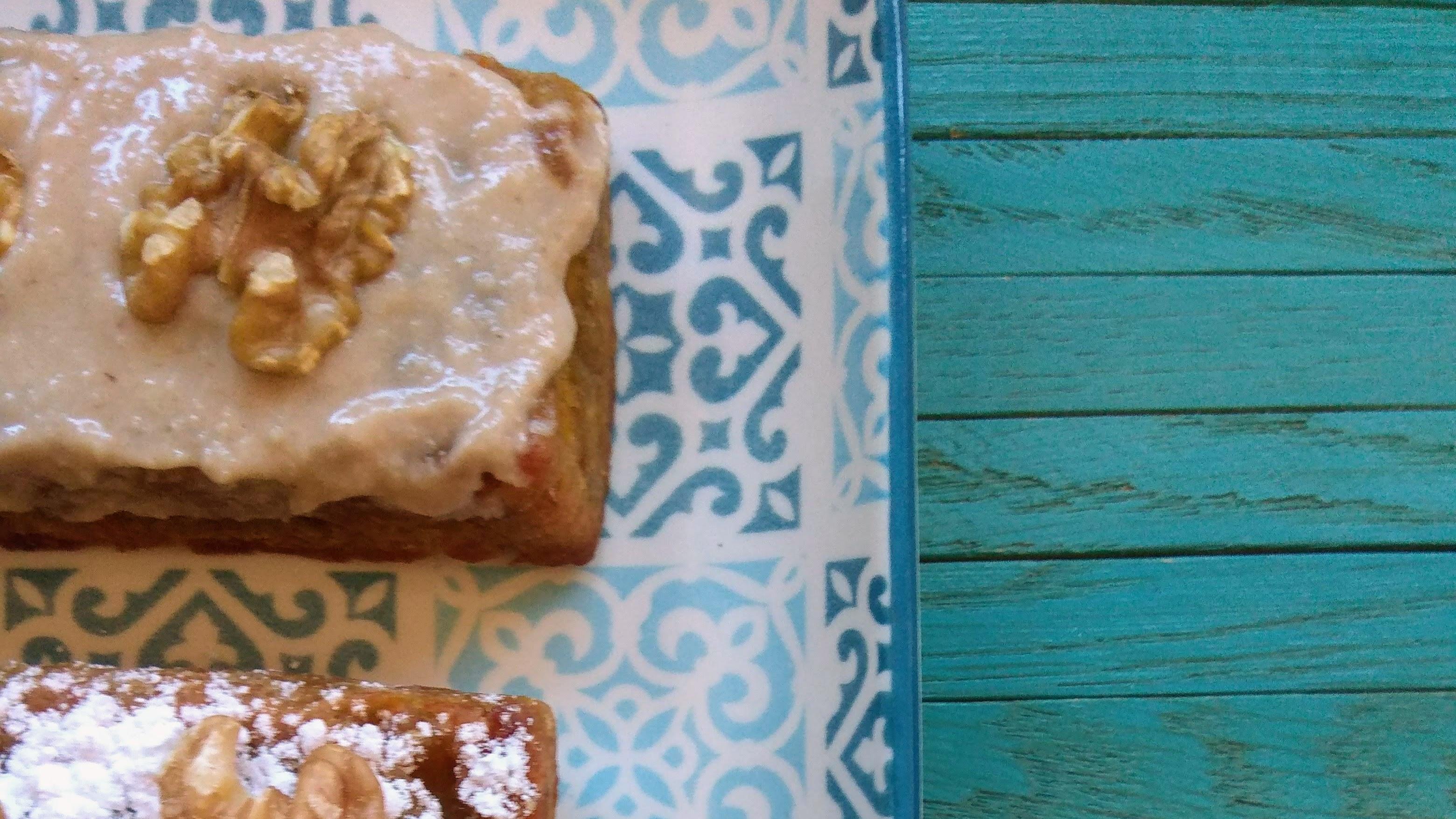 Receta: Bizcocho de boniato y manzana (vegano). Descúbrela en: www.cocinandoconlola.com
