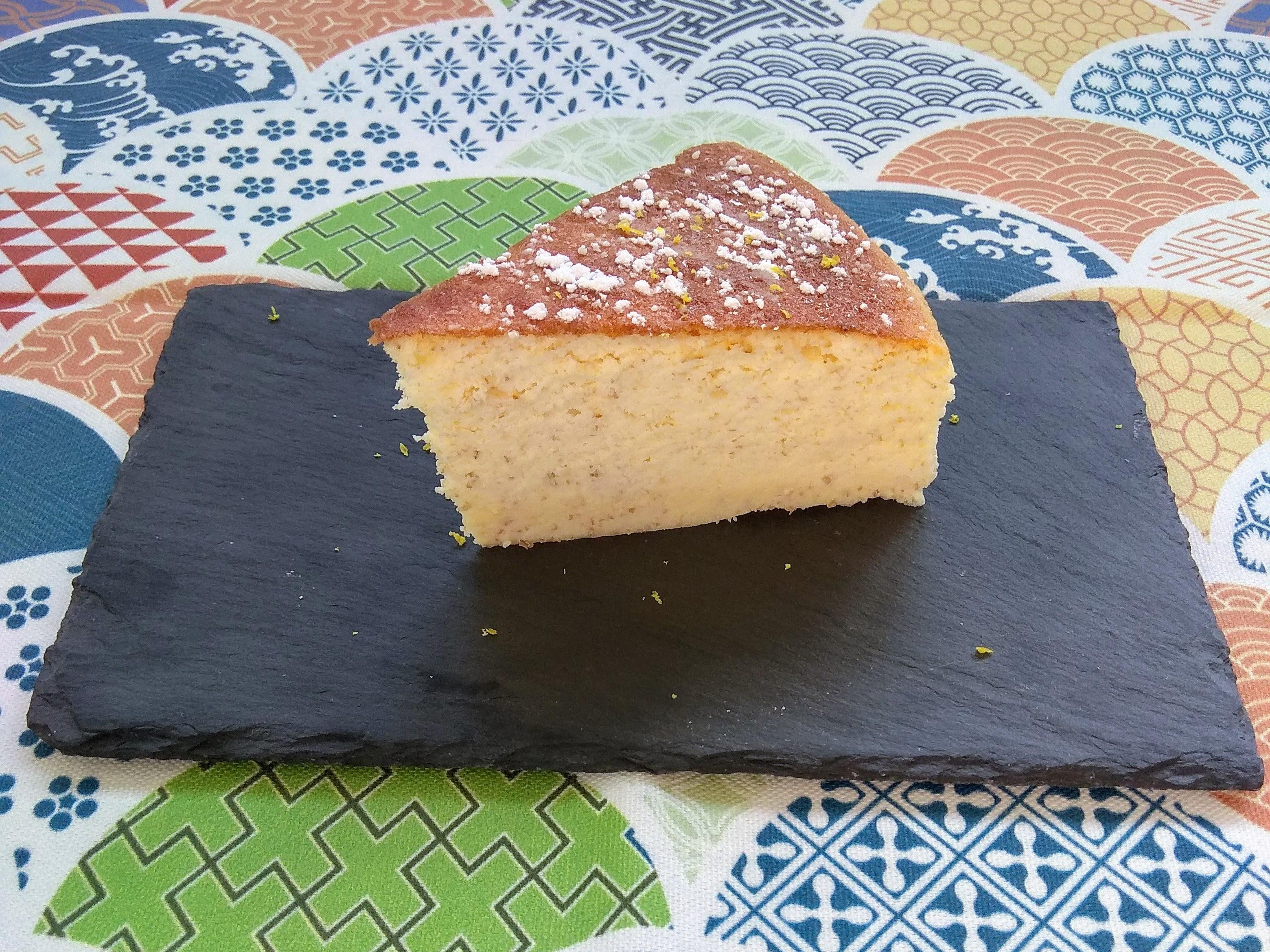 Receta de tarta de queso japonesa ( Soft cotton cheesecake). Descúbrela en: www.cocinandoconlola.com