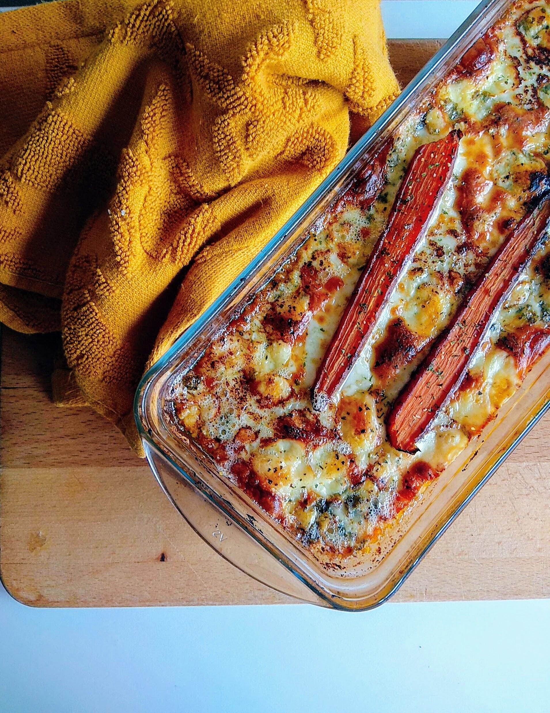 Receta de gratén de calabaza asada y zanahorias. Descúbrela en:www.cocinandoconlola.com